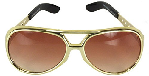 Celebrities Costumes (Classic SL TCB Elvis Celebrity Style Aviator Sunglasses)