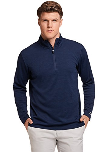Russell Athletic Men's Lightweight Performance 1/4 Zip, Navy, M