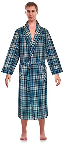 Robes King Classical Sleepwear Men's Woven Shawl Collar Robe, Size 2x Extra Large 3x Extra Large (Big And Tall Mens Robes)