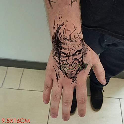 5pcs Tatuaje Impermeable Etiqueta engomada Sun Star Line Carta de ...