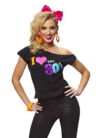 Amazon.com: Costume Culture Women's I Love The 80's T ...