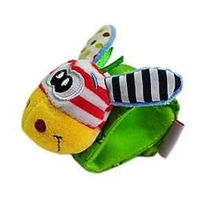 Giraffe Infant Baby Kids Wrist Rattle Set Developmental Soft Toys