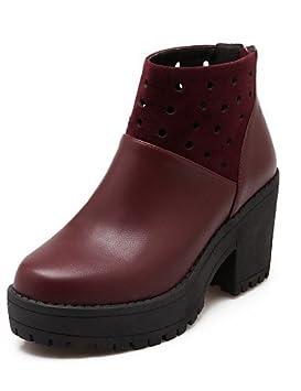 XZZ/ Zapatos de mujer - Tacón Robusto - Botines / Punta Redonda / Botas a