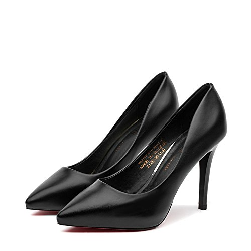 Hoxekle Women Sexy High Heels Stiletto Pumps Spring Fashion New Element Shoes Black ml9ozvS