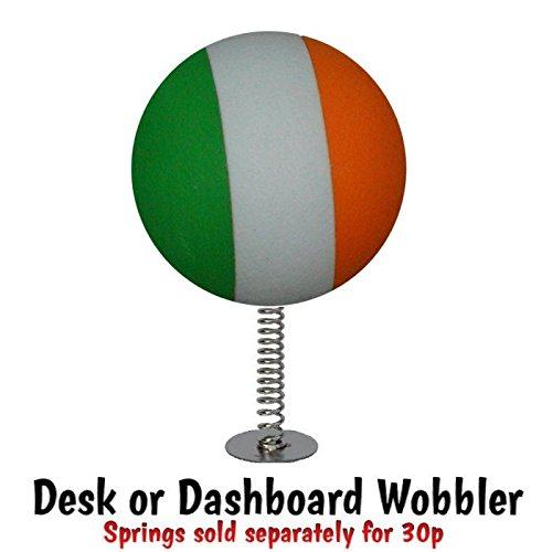 Ireland Irish Flag Ball Car Aerial Ball Antenna Topper OR Dashboard Wobbler! one P/&P charge no matter how many items you buy from Aerialballs.