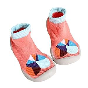 Fuxitoggo Zapatos de Calcetines Antideslizantes para niños pequeños Botas Calcetines para niños, Niños Bebés,