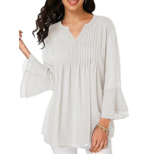 Clearance Blouse Tops Womens Chiffon V Neck Long Sleeve AfterSo (Sweatshirt Vintage Glamour)