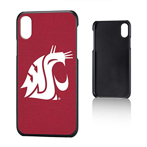 Keyscaper KSLMIX-0WST-SOLID1 Washington State Cougars iPhone X/XS Slim Case with WSU Solid ()