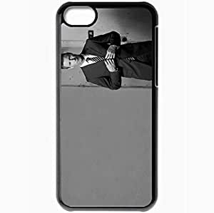 Personalized iPhone 5C Cell phone Case/Cover Skin Aaron Eckhart Black Black