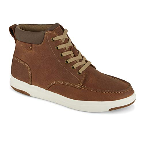 (Dockers Mens Gaines Leather Casual High Top Sneaker Shoe, Red Brown, 10 M)