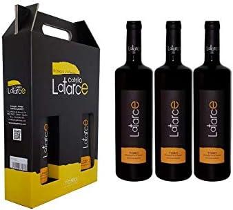 Estuche 3 Botellas Tinto Crianza Latarce 2015 | Vino Tinto | Botellas Vino Tinto Crianza Latarce D.O Toro: Amazon.es: Alimentación y bebidas