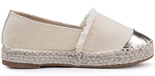 Loafer On Punta Espadrillas Tonda Beige AgeeMi Shoes Donna Mocassini Donna Slip Scarpe wq0ygExX