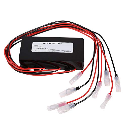 1Pcs Equalizer 48V Battery Voltage Balancer, Max 4 × 12V Battery Bank Extend Battery Life 1 Year and More support Gel Flood AGM Lead Acid Lithium Battery (Download Equalizer)