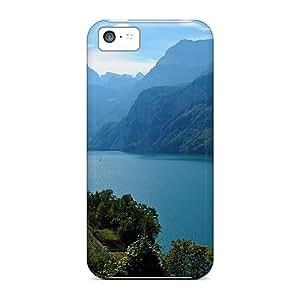 New Arrival Xjz4875DXFG Premium Iphone 5c Case(mountain Lake)