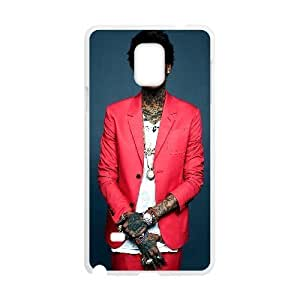 Samsung Galaxy Note 4 Case Wiz Khalifa, Dressed in a Red Suit, Samsung Galaxy Note 4 Case Wiz Khalifa Cheap for Boys, [White]