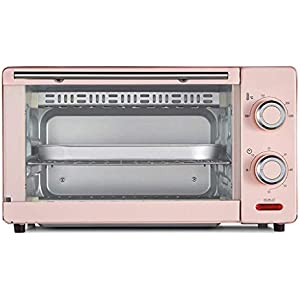 HIZLJJ Electric Countertop Multifunction Convection Oven Digital Stainless Steel Compact Kitchen Rotisserie Toaster w/Baking Pan, Grill Rack Tray, Glass Door