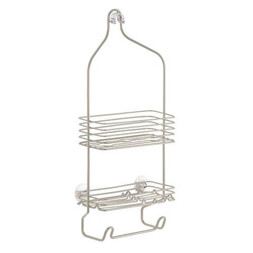 InterDesign Classico Hanging Shower Caddy - Bathroom Storage Shelves for Shampoo, Conditioner and Soap, Satin ()