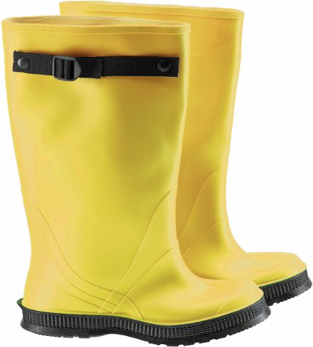 Self Slicker Cleated 13 OverBoots PVC with Size Strap Flex Cleaning Height Yellow 17