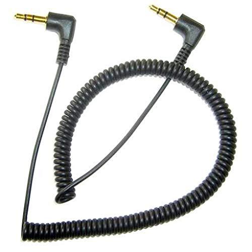 ブラック コイル状 AUXケーブル カーステレオワイヤー オーディオスピーカーコード 3.5mm AUX入力アダプター LG V40 ThinQ対応   B07JHXP6BY