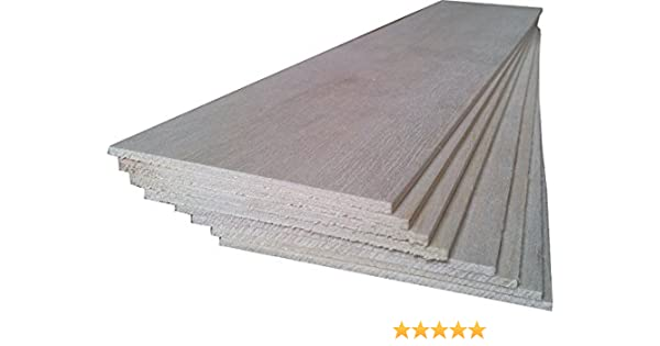 Craft Wooden Sheets Unfinished for Building Model 300x200x1.5mm Pack of 5