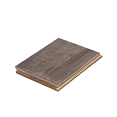 "Cali Bamboo - Solid T&G Bamboo Flooring, Boardwalk Gray, Hand Scraped - Sample Size 8"" Long, 3 3/4"" W x 9/16"" H"
