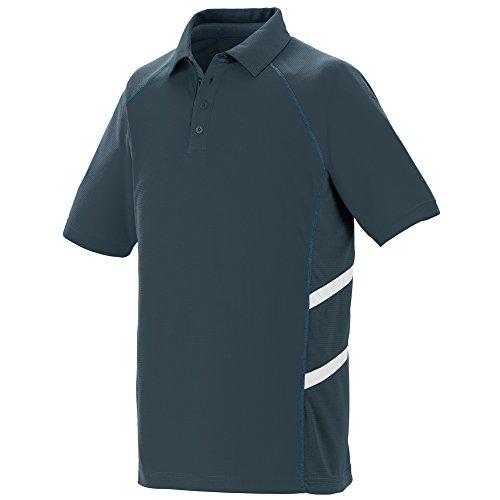 - Augusta Sportswear Men's Oblique Sport Shirt L Slate/Slate/White