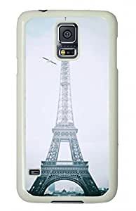 PC Attractive design Plastic Phone Protector Cover Case With Eiffel Tower For Samsung Galaxy S5.