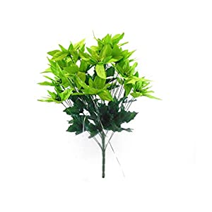 "Lime Christmas Poinsettia Bush 24 Artificial Silk Flowers 24"" Bouquet 030LIM 2"