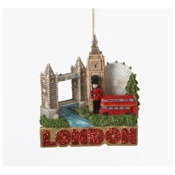 Amazon.com: London Christmas Ornament 4 Inch Double Sided 3D ...
