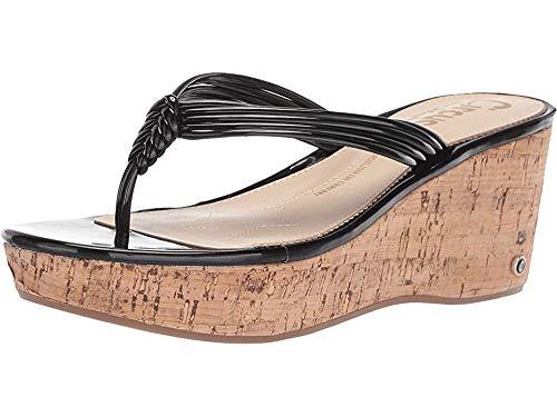- Circus by Sam Edelman Women's Ruby Wedge Sandal, Black Patent, 9 M US