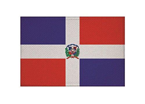 U24 /Écusson thermocollant Motif drapeau de la R/épublique Dominicaine 9 x 6 cm