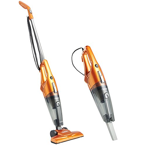 VonHaus 2 -in- 1 Corded Upright Stick and Handheld Vacuum Cleaner with HEPA Filtration and Crevice Tool – Orange