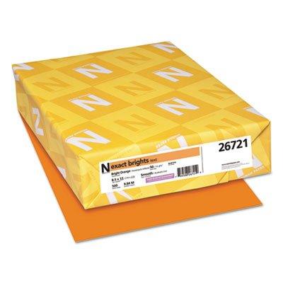 Exact Brights Paper, 8 1/2 x 11, Bright Orange, 20lb, 500 Sheets