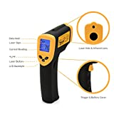 Etekcity Lasergrip 774 Non-contact Digital Laser Infrared Thermometer -58℉~ 716℉ (-50℃~380℃), Yellow and Black