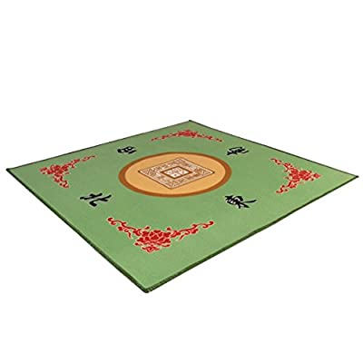 30.8 Inch Table Cover in Green for Mahjong and Card Games
