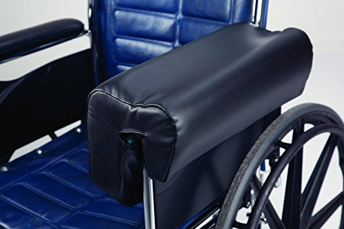 (Secure Deluxe Lateral Wheelchair Arm Support Armrest Cushion, Black)