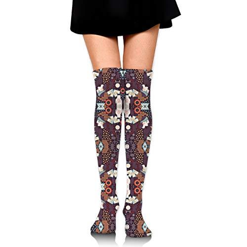 DFAUHAL Fortune Teller Fabric Novelty Socks Tall Socks Knee High Graduated Compression Socks for Unisex