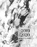 2019 2020 Marble Grey 15 Months Daily Planner: Academic Hourly Organizer In 15 Minute Interval; Appointment Calendar With Address Book & Note Section; Monthly & Weekly Goals Journal With Quotes