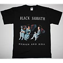 BLACK SABBATH HEAVEN AND HELL'80 OZZY DIO RAINBOW HEAVY BAND NEW BLACK T-SHIRT