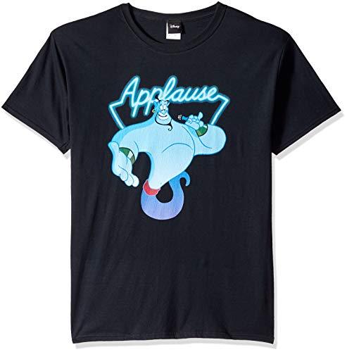 Disney Mens Aladdin Genie Applause Humor Graphic T-Shirt