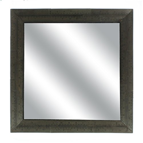 Industrial Square Mirror Vintage Antique