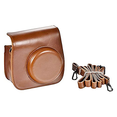 Brown Color Cute Design PU Leather Instax Mini 8 Camera Cas