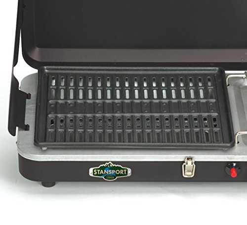 Stansport High Output 10,000 BTU Propane Stove and Grill Combo with Piezo Igniter, Black by Stansport (Image #2)