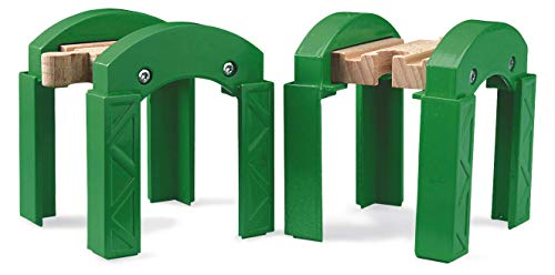 - BRIO World - 33253 Stacking Track Supports | 2 Piece Toy Train Accessory for Kids Age 3 and Up