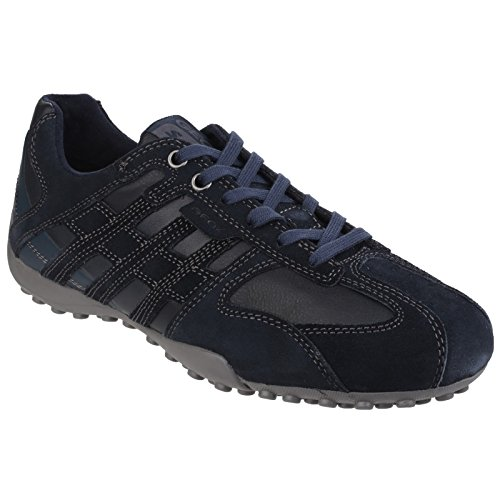 Geox Mens Snake Lace Up Trainers Navy zSvGoq