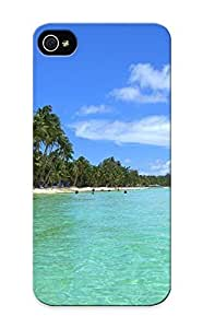 Tpu Fashionable Design Tropical Beach Rugged Case Cover For Iphone 5/5s / Appearance