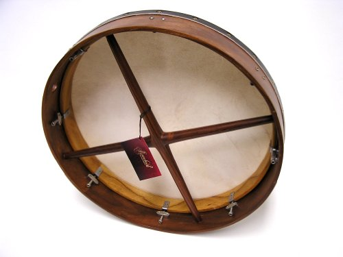 Bodhran, 18'', Tune, Rswd, Soft, Cross by Mid-East