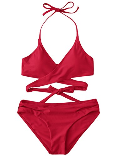 Dark Red Bikini Set in Australia - 8
