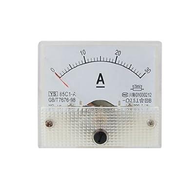 uxcell DMiotech 85C1-A Analog Current Panel Meter DC 30A Ammeter Ampere Tester Gauge