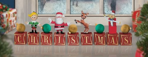 Rudolph The Red Nosed Reindeer 2010 Christmas Decor Blocks